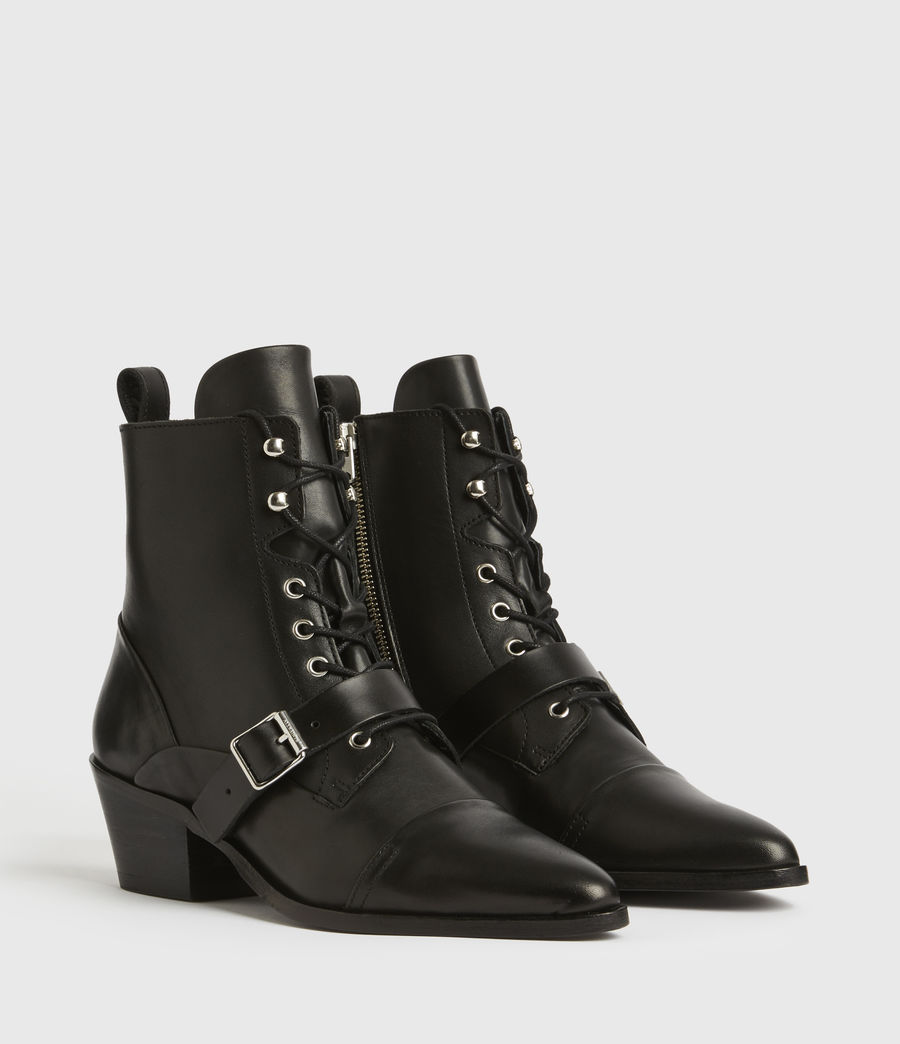 Women's Katy Leather Boots (black) - Image 3