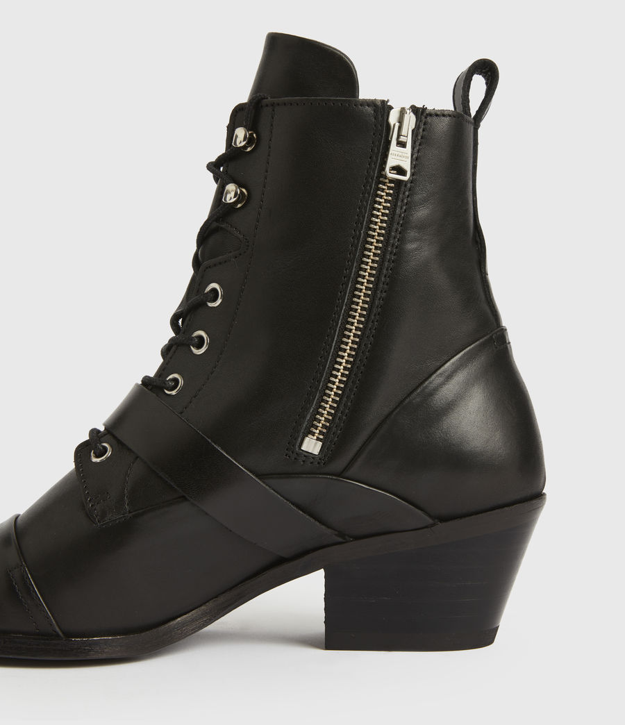Women's Katy Leather Boots (black) - Image 4