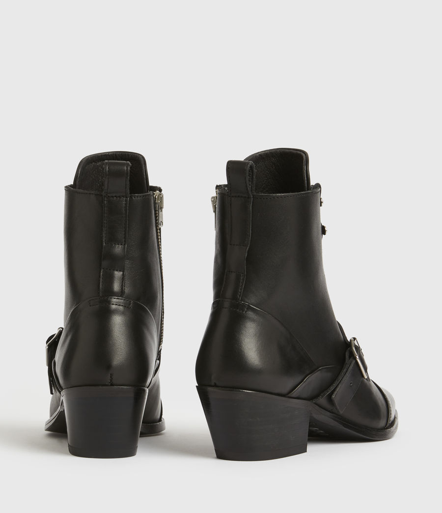 Women's Katy Leather Boots (black) - Image 5