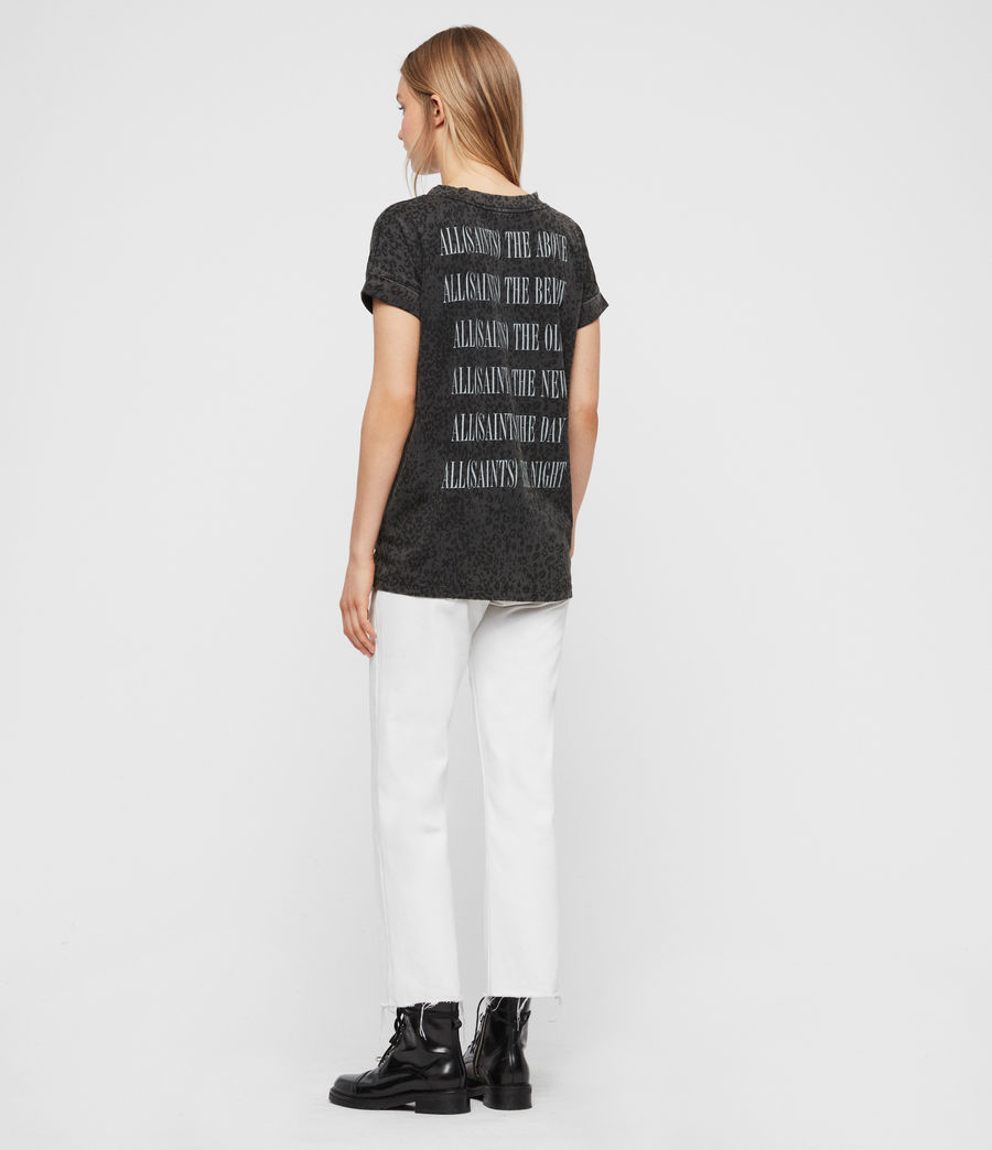 Womens Brackets Imogen Boy T-Shirt (leo_grey) - Image 4