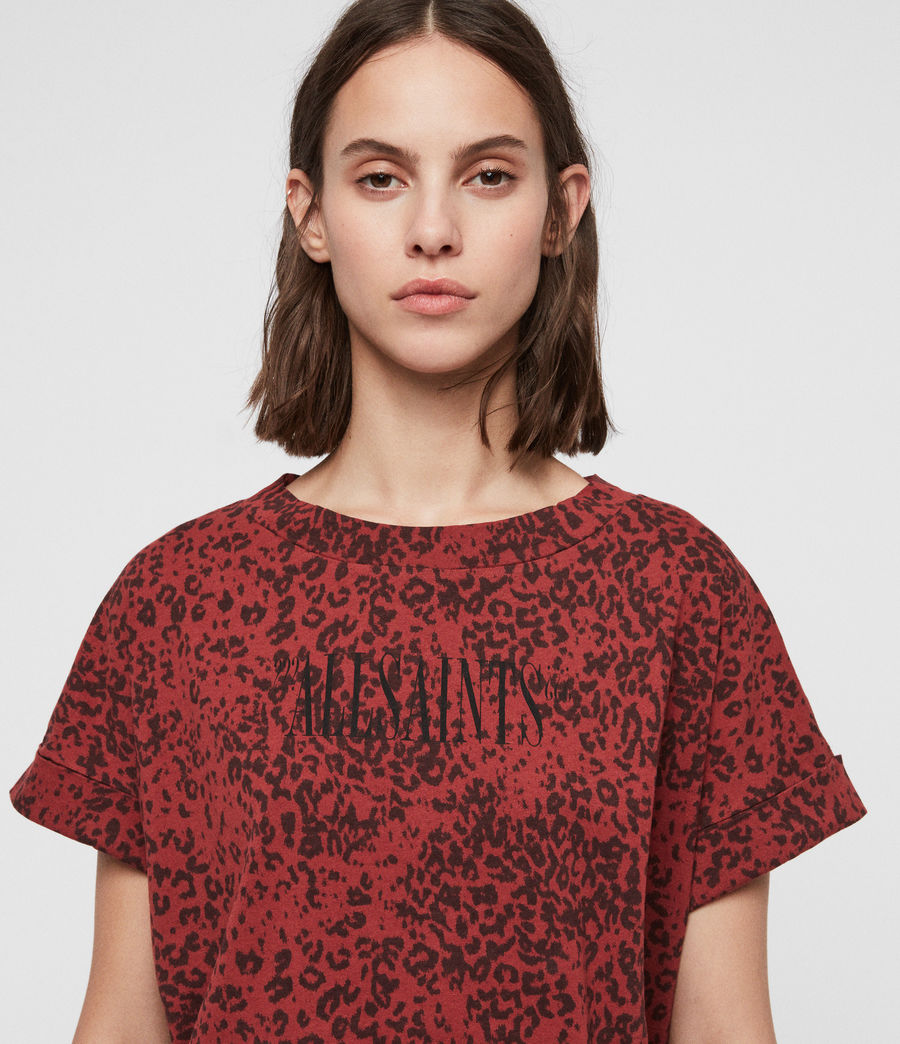 Women's Brackets Imogen Boy T-shirt (leo_red) - Image 2