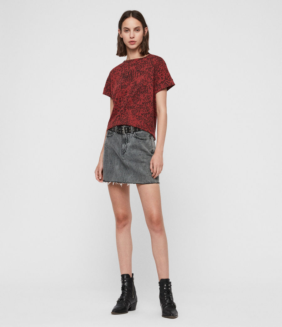 Womens Brackets Imogen Boy T-Shirt (leo_grey) - Image 3