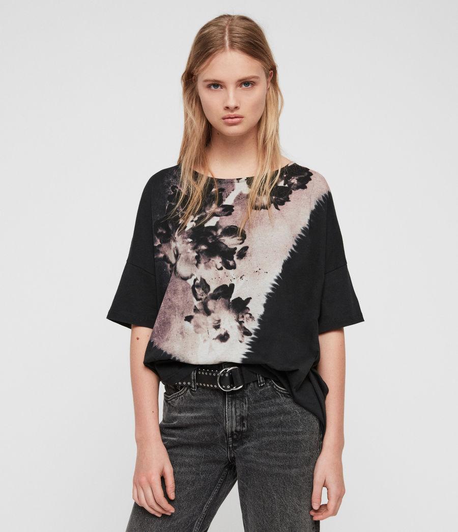 Womens Flora Tru T-Shirt (black) - Image 1
