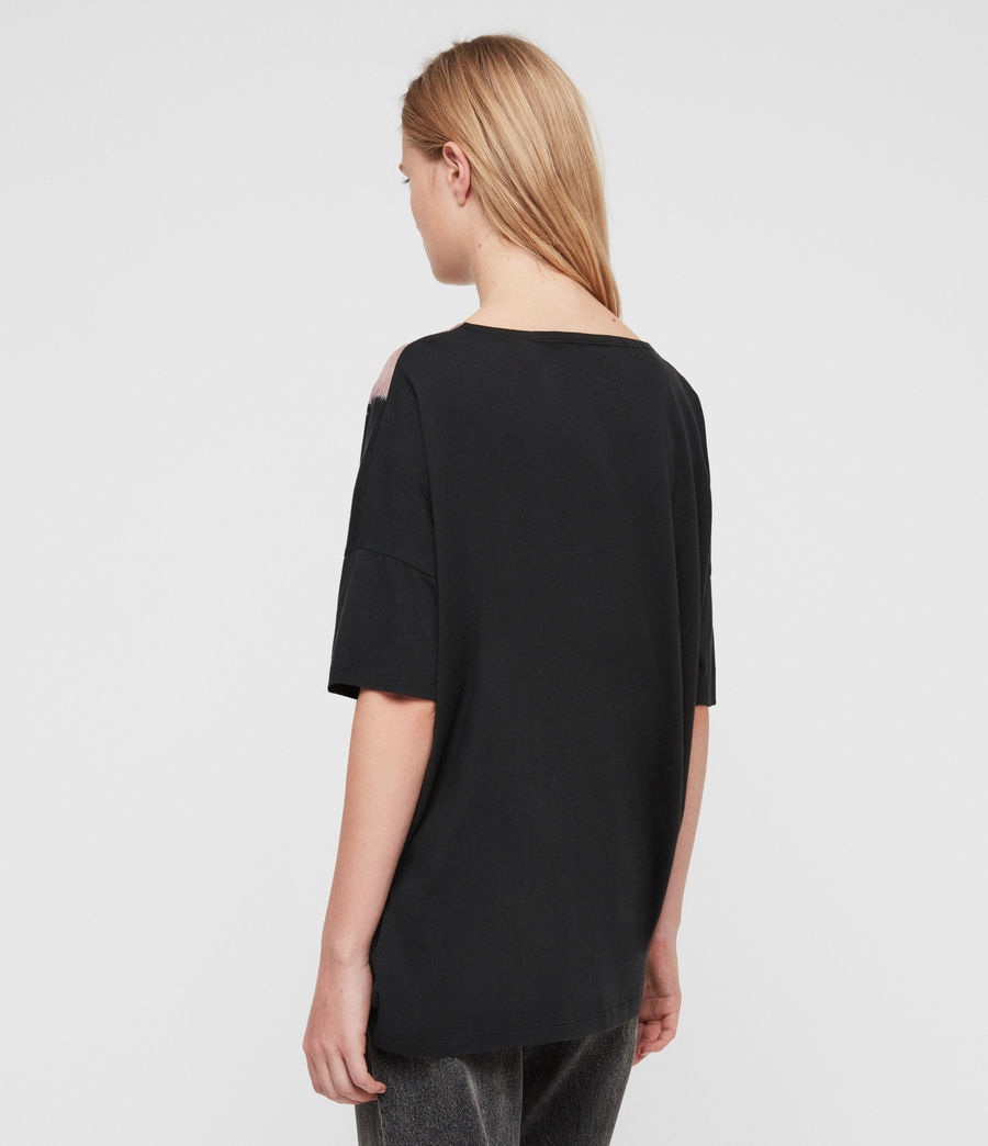 Womens Flora Tru T-Shirt (black) - Image 4