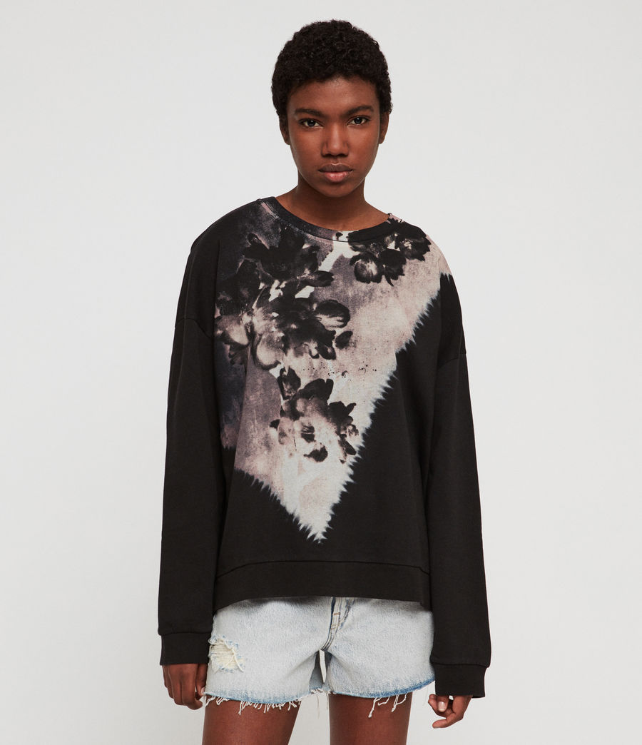 Womens Flora Lo Sweatshirt (black) - Image 1