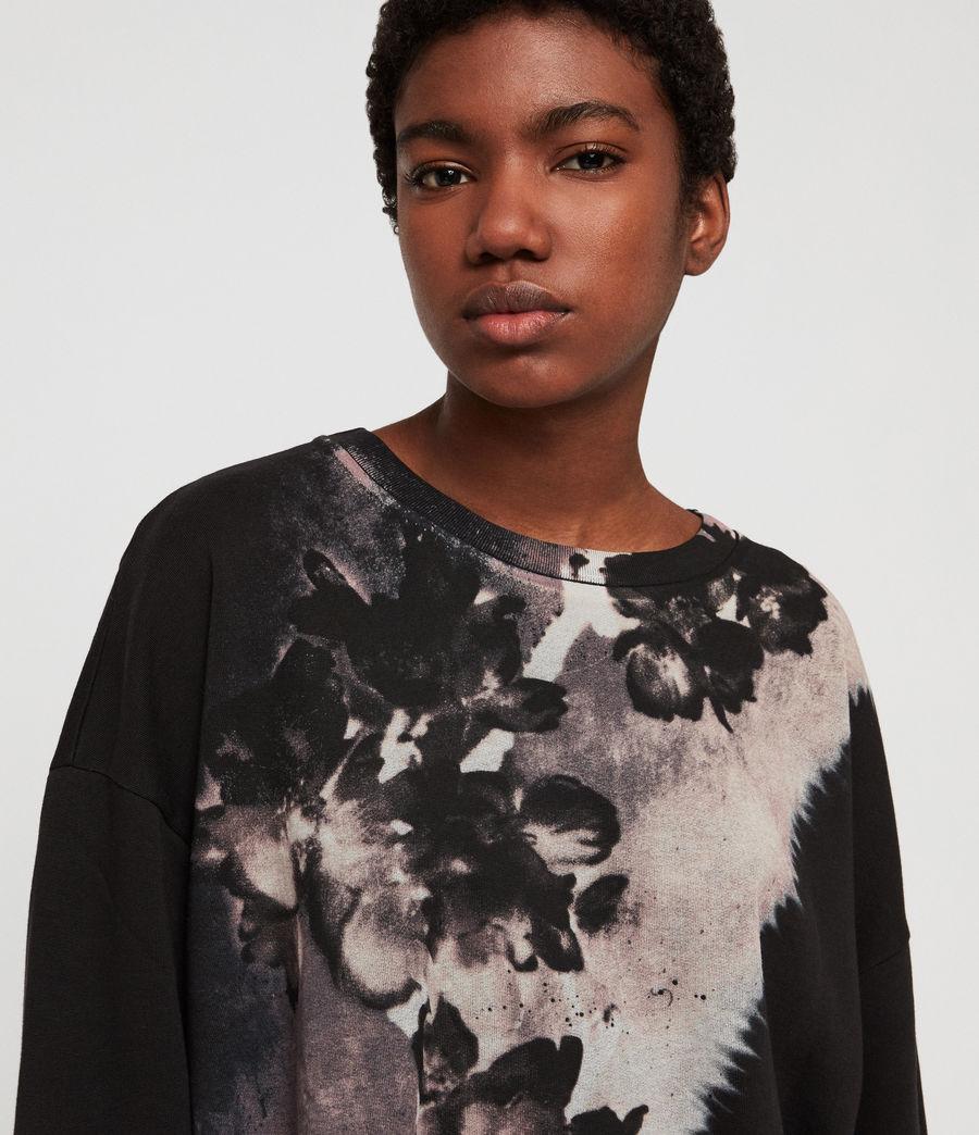 Womens Flora Lo Sweatshirt (black) - Image 2