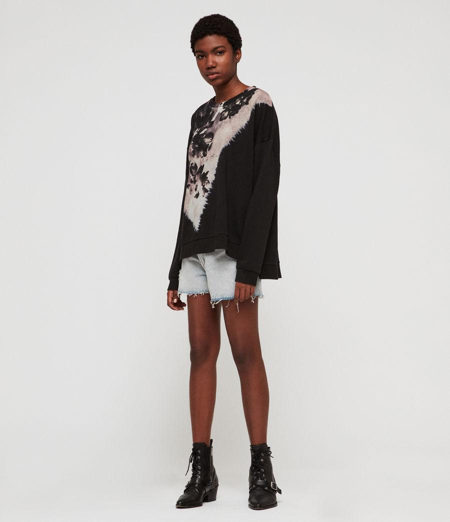 Womens Flora Lo Sweatshirt (black) - Image 3