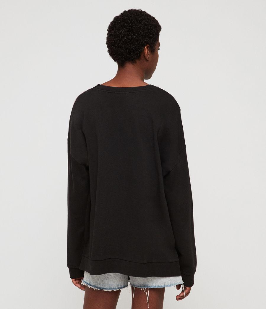 Womens Flora Lo Sweatshirt (black) - Image 4