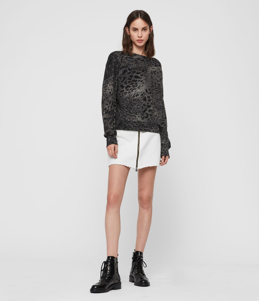 Damen Paw Kaarlo Sweatshirt (black) - Image 1