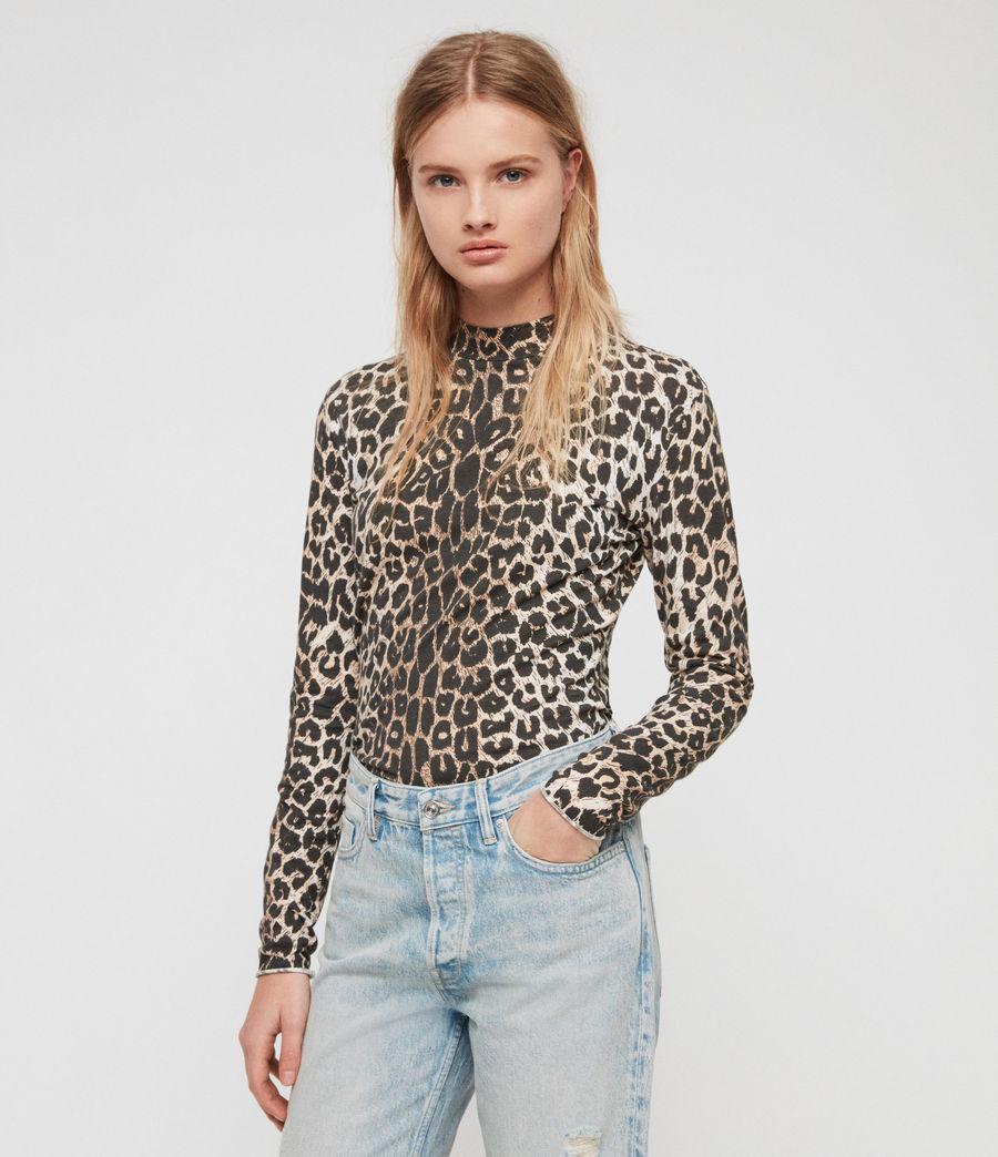 Womens Leap Kiara T-Shirt (leopard) - Image 2