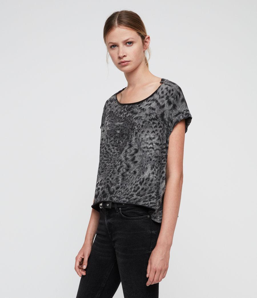 Donne Paw Pina T-Shirt (fadeout_black) - Image 1