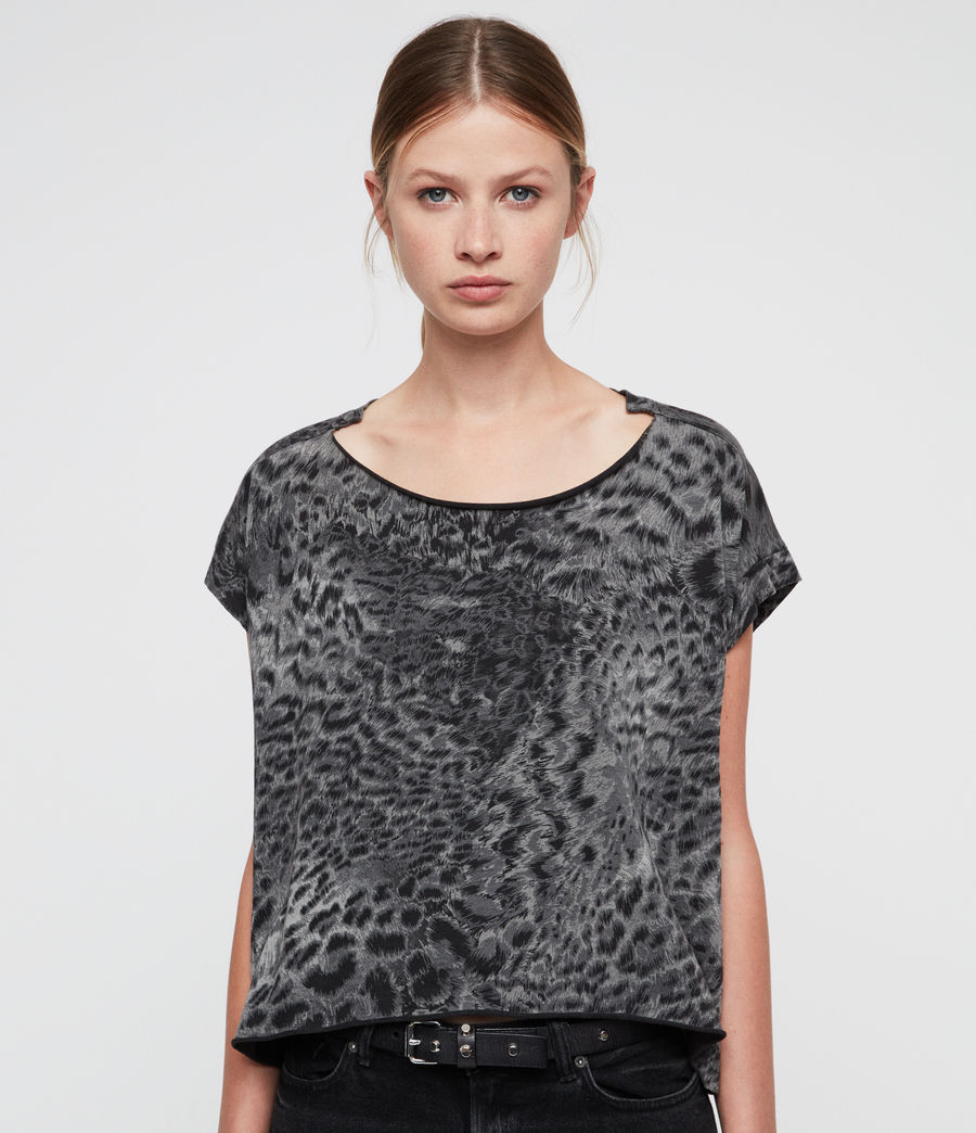 Donne Paw Pina T-Shirt (fadeout_black) - Image 2