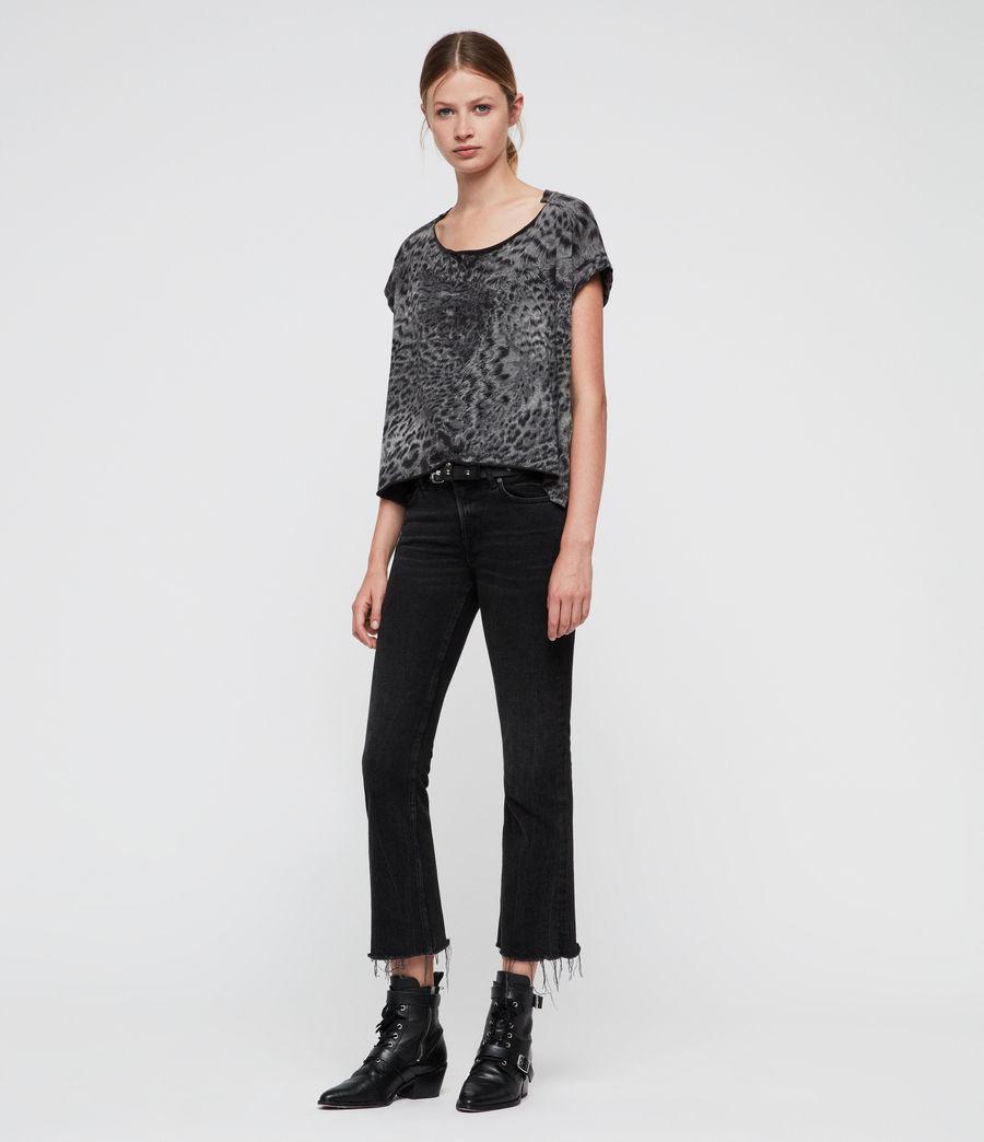 Donne Paw Pina T-Shirt (fadeout_black) - Image 3