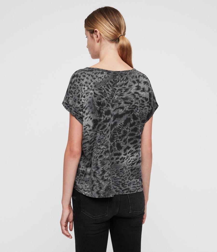 Donne Paw Pina T-Shirt (fadeout_black) - Image 4