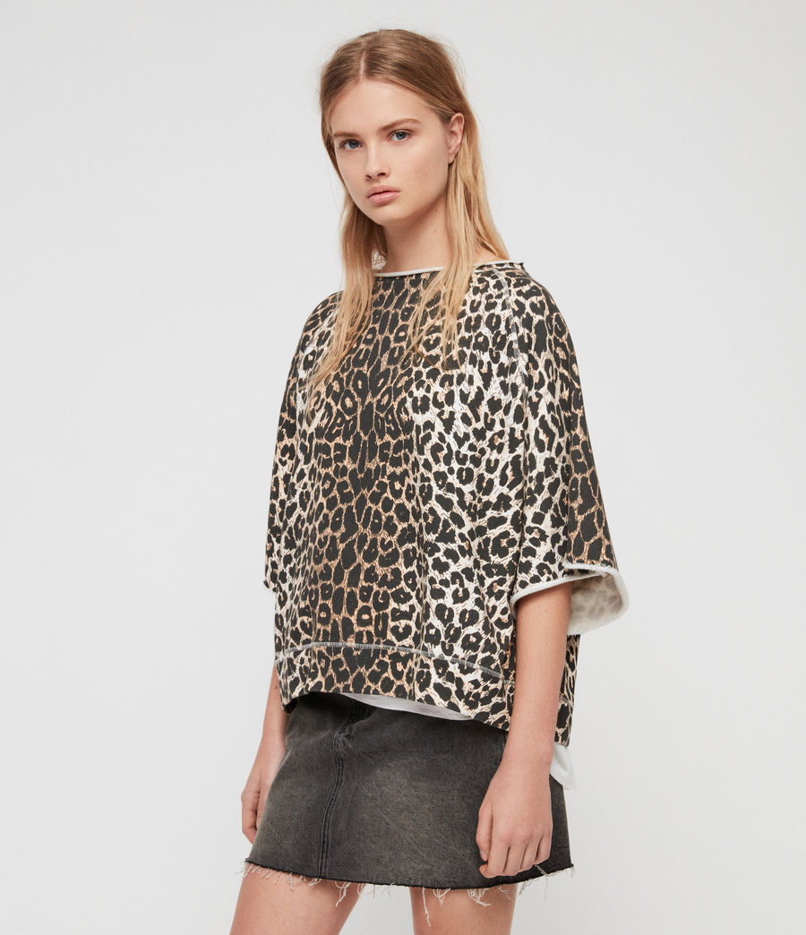 Mujer Sudadera Leap Mila (leopard) - Image 1