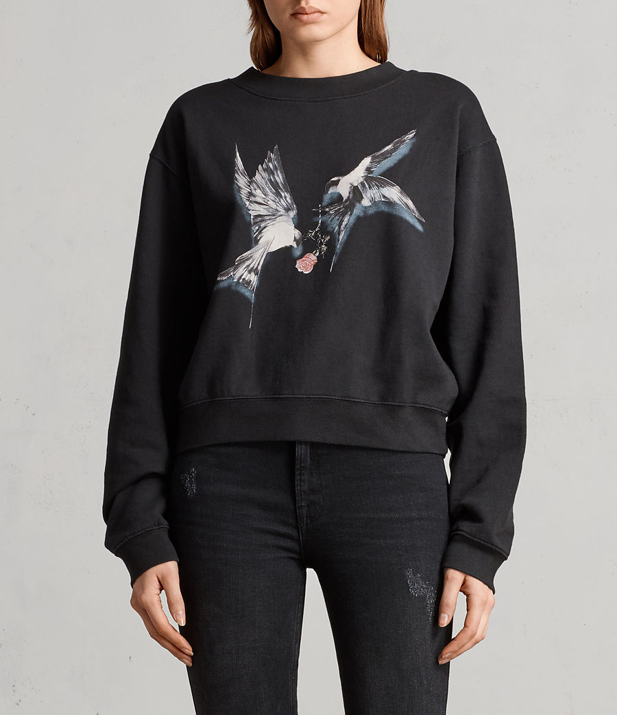 Womens Lovers Tia Sweatshirt (black) - Image 1