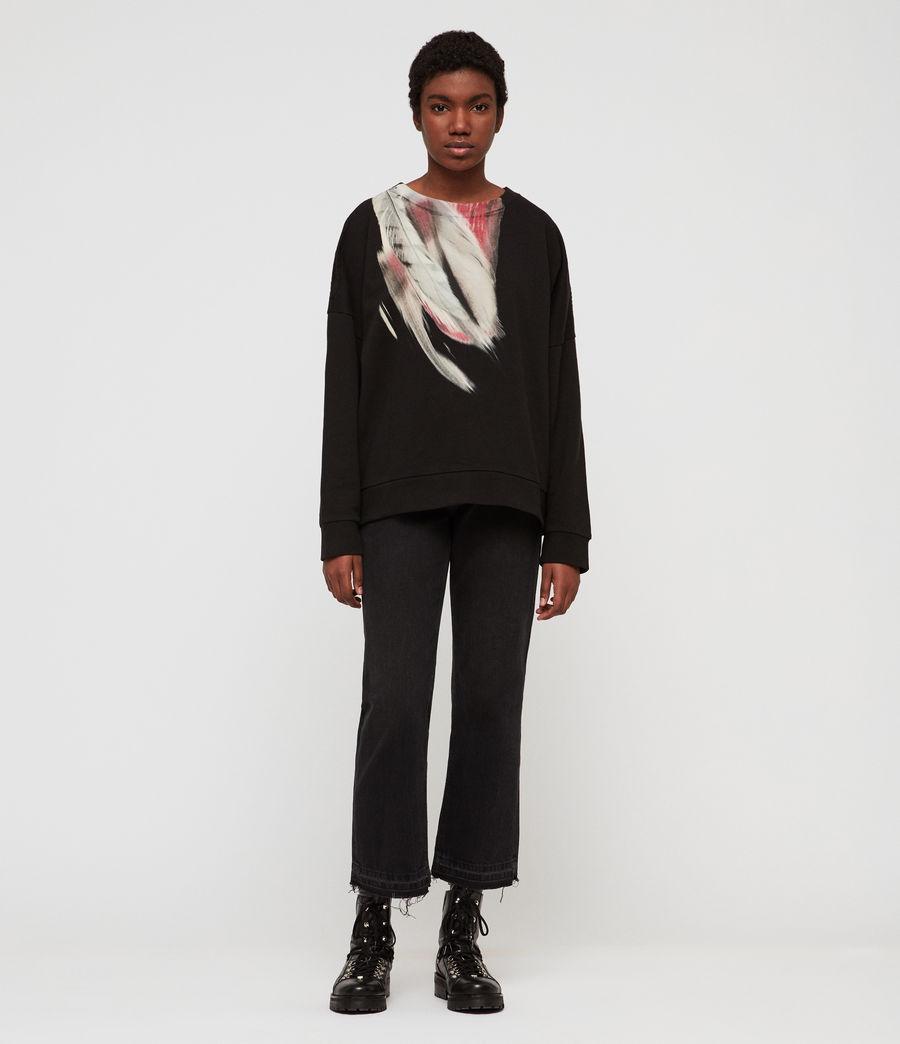 Womens Penna Unai Sweatshirt (black) - Image 3
