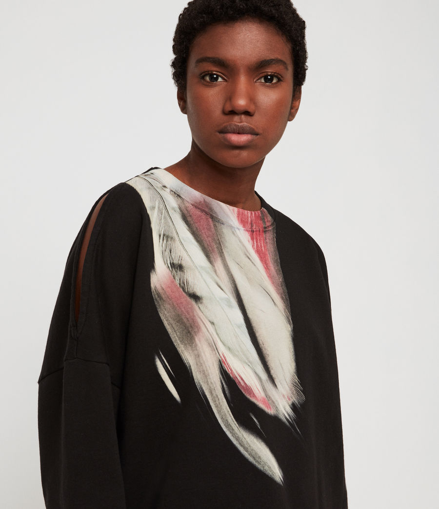 Womens Penna Unai Sweatshirt (black) - Image 4