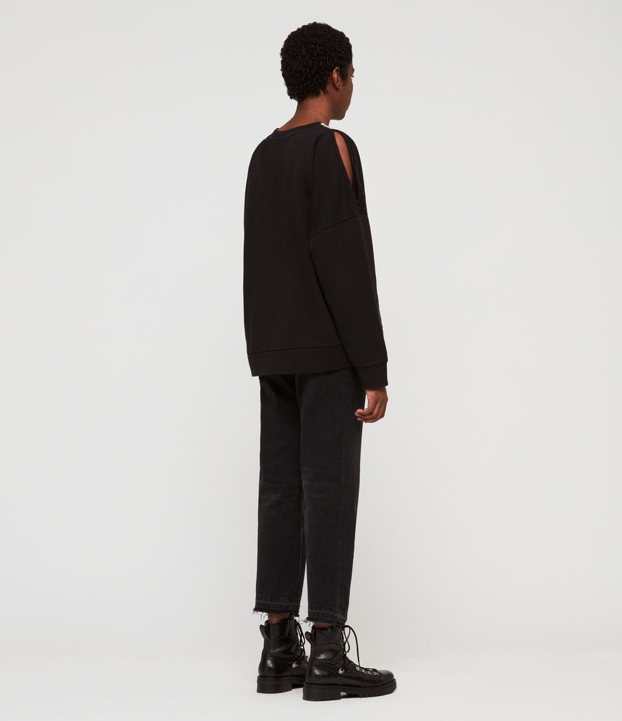 Womens Penna Unai Sweatshirt (black) - Image 5