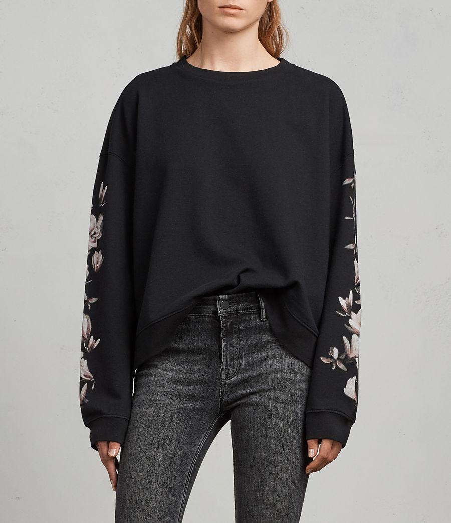 Damen Magnolia Lo Sweatshirt (black) - Image 1