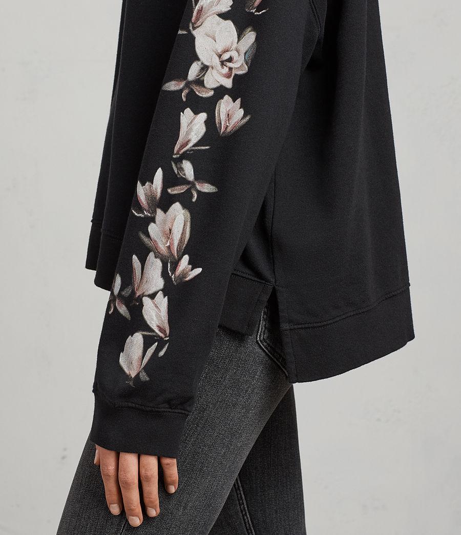 Donne Felpa Magnolia Lo (black) - Image 2