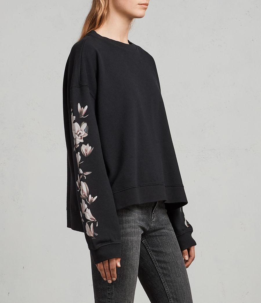 Damen Magnolia Lo Sweatshirt (black) - Image 3
