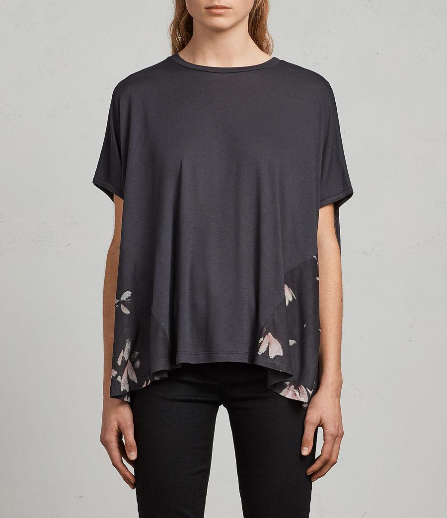 Donne T-shirt Magnolia Elena (washed_black) - Image 1