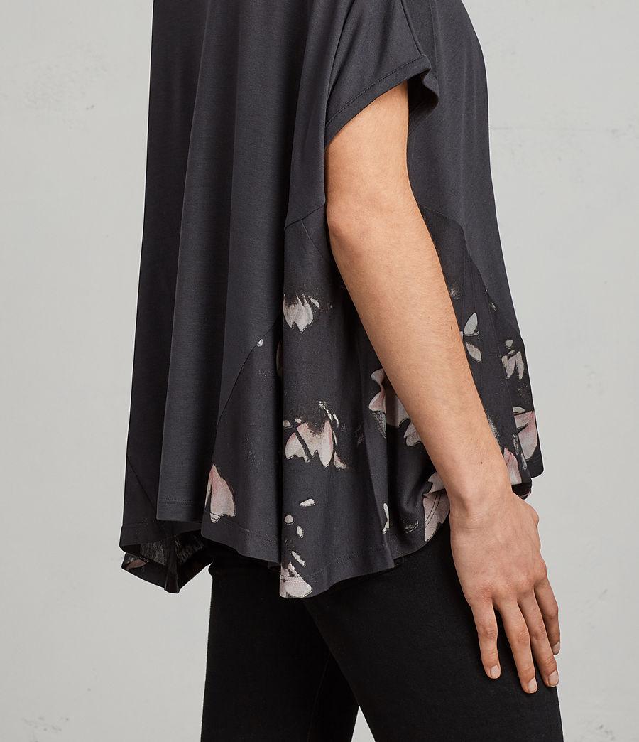 Donne T-shirt Magnolia Elena (washed_black) - Image 2