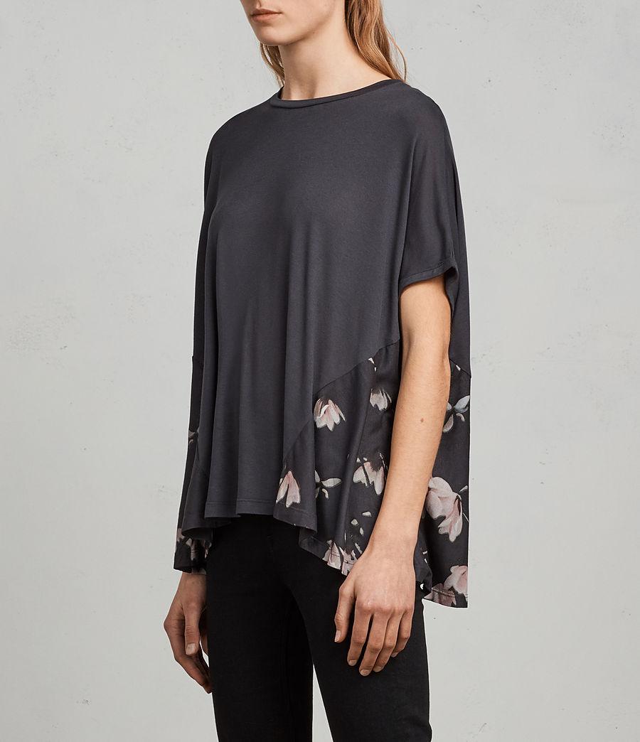 Donne T-shirt Magnolia Elena (washed_black) - Image 3
