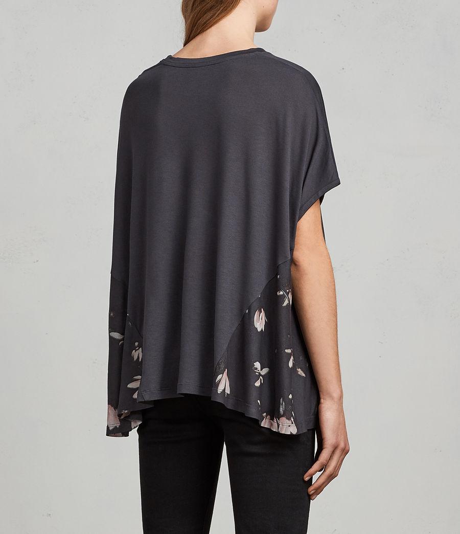 Donne T-shirt Magnolia Elena (washed_black) - Image 4