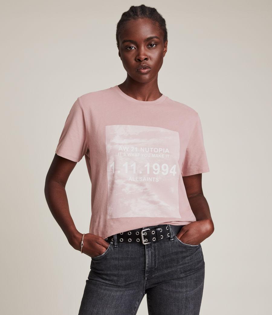 Womens Skye Boyfriend T-Shirt (dusty_pink) - Image 1