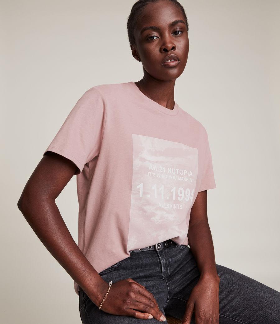 Womens Skye Boyfriend T-Shirt (dusty_pink) - Image 2