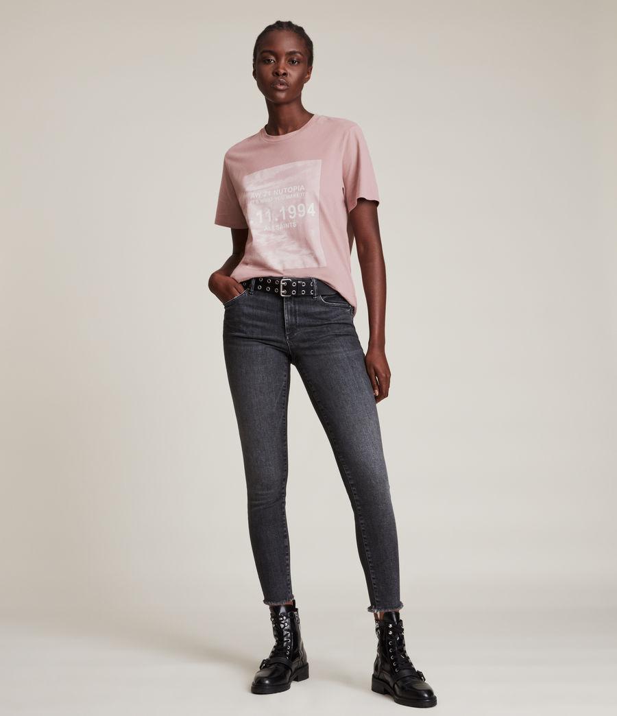 Womens Skye Boyfriend T-Shirt (dusty_pink) - Image 3