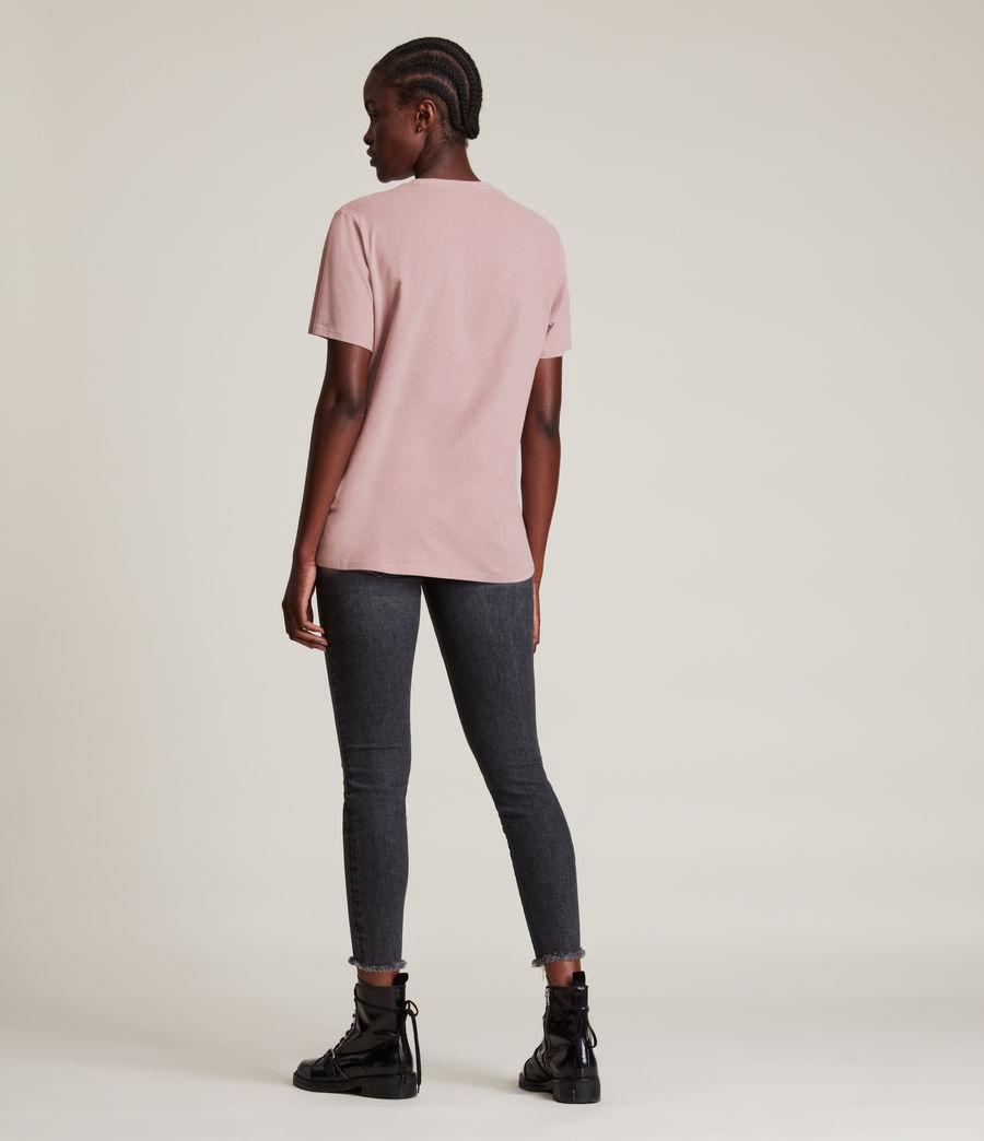 Womens Skye Boyfriend T-Shirt (dusty_pink) - Image 4