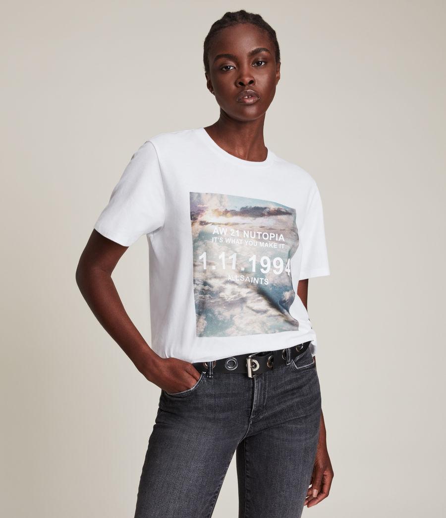 Femmes Skye Boyfriend T-Shirt (optic_white) - Image 1