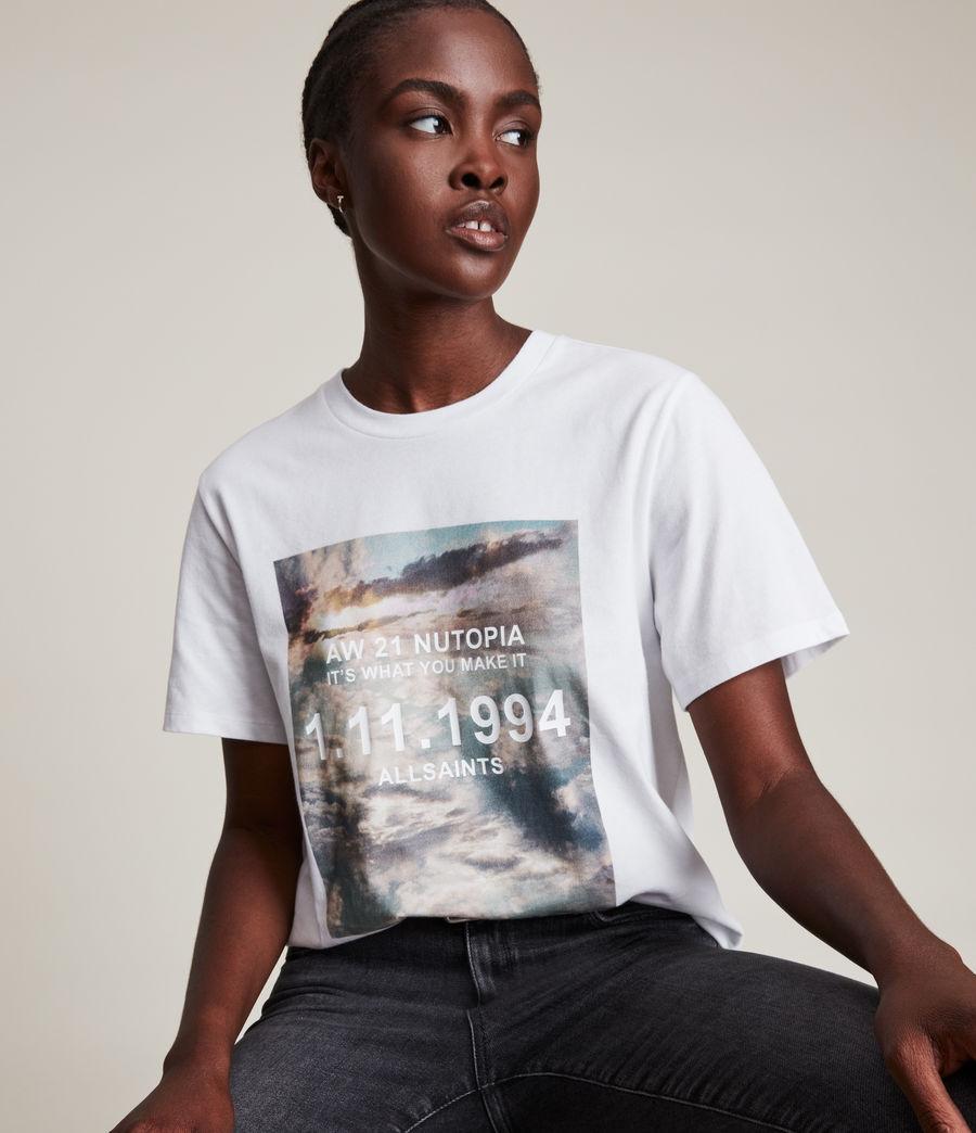 Femmes Skye Boyfriend T-Shirt (optic_white) - Image 2