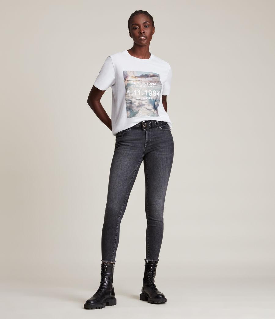Femmes Skye Boyfriend T-Shirt (optic_white) - Image 3