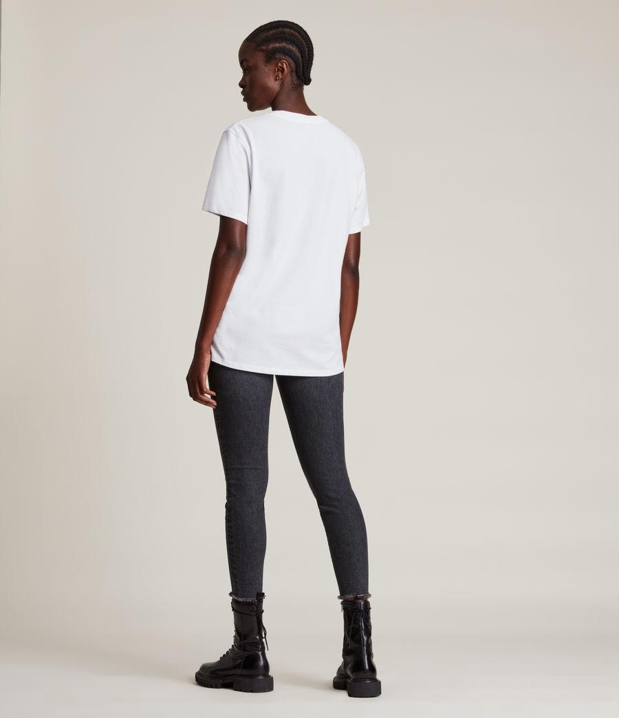 Femmes Skye Boyfriend T-Shirt (optic_white) - Image 4