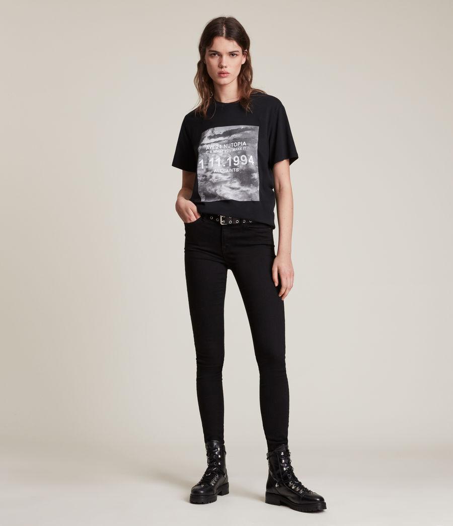 Damen Skye Boyfriend T-Shirt (black) - Image 3