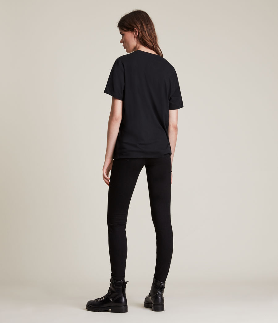 Damen Skye Boyfriend T-Shirt (black) - Image 4