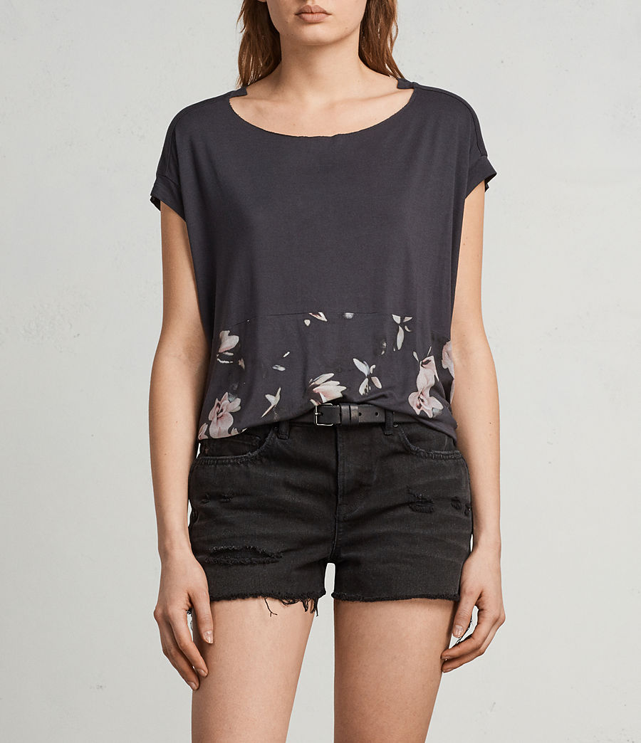 Womens Magnolia Pina Tee (washed_black) - Image 1