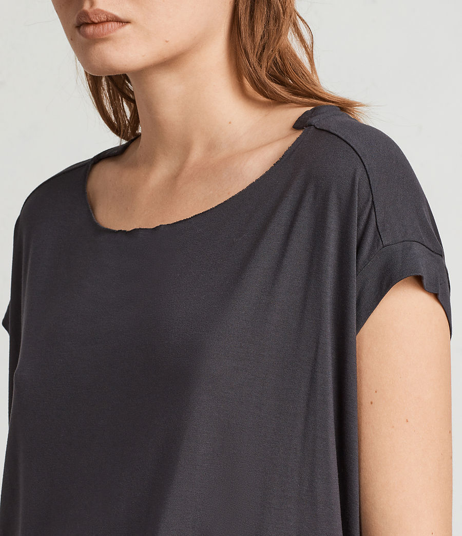 Womens Magnolia Pina Tee (washed_black) - Image 2