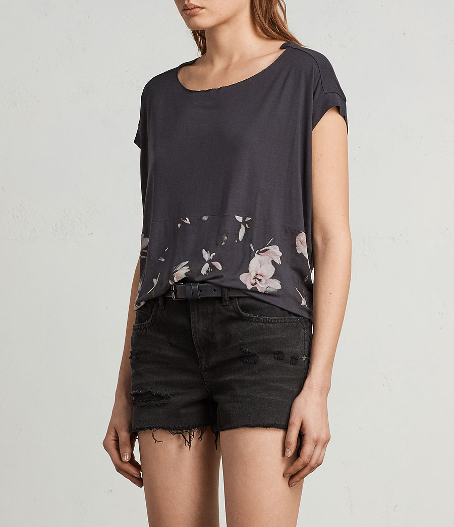 Womens Magnolia Pina Tee (washed_black) - Image 3