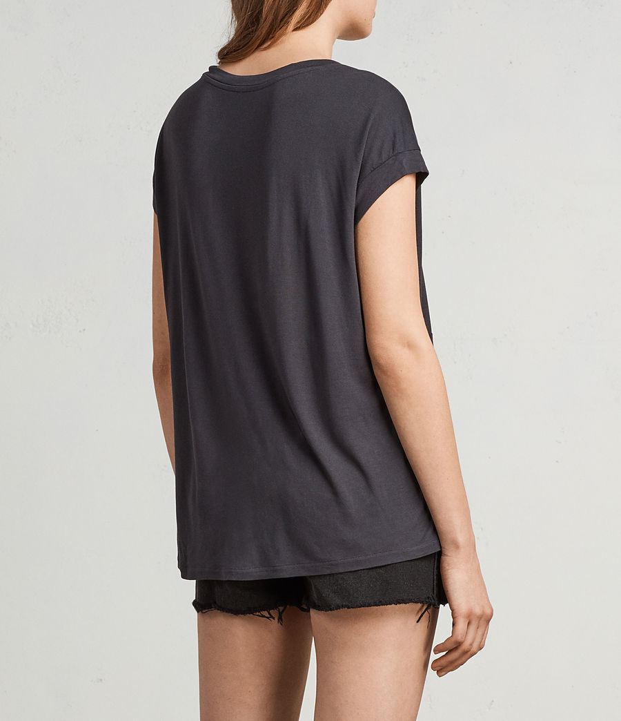 Womens Magnolia Pina Tee (washed_black) - Image 5