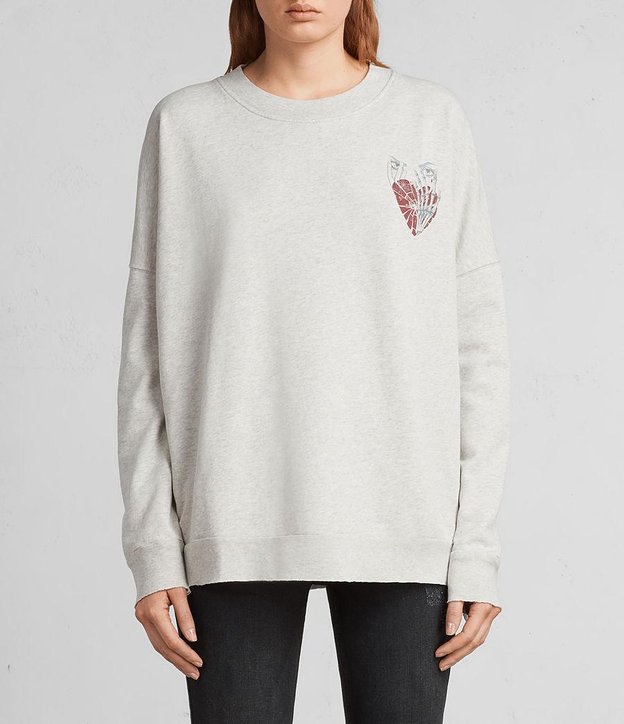 Women's Shy Iva Crew Sweatshirt (light_grey_marl) - Image 1