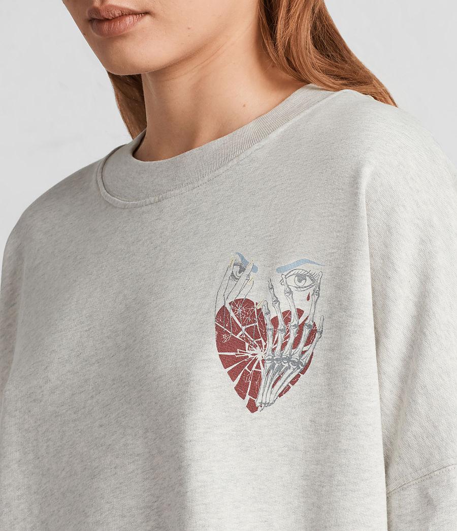 Women's Shy Iva Crew Sweatshirt (light_grey_marl) - Image 2
