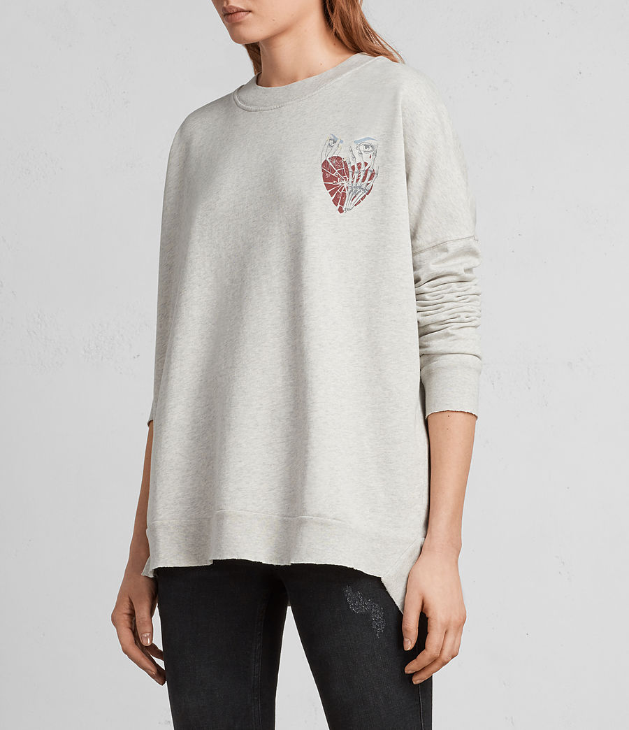 Women's Shy Iva Crew Sweatshirt (light_grey_marl) - Image 3