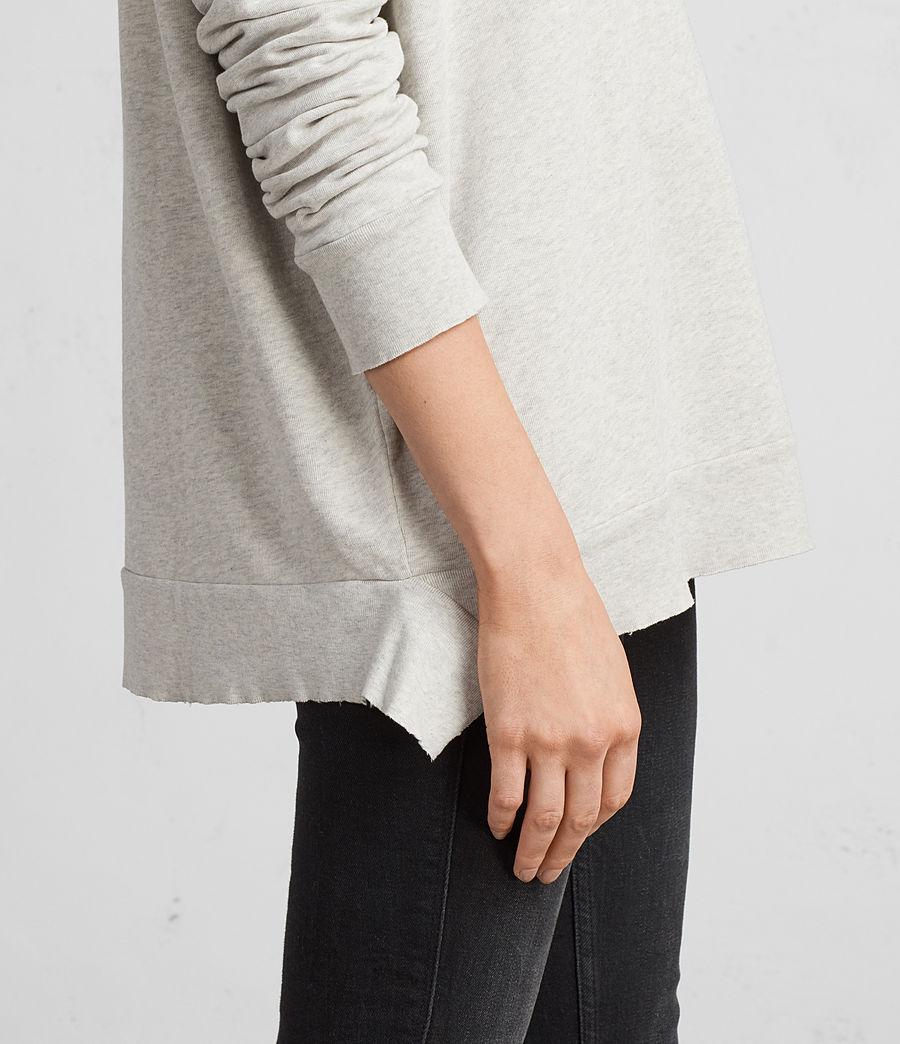 Women's Shy Iva Crew Sweatshirt (light_grey_marl) - Image 4