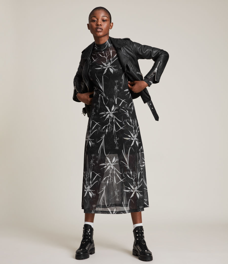 Womens Hanna Rutland Dress (black) - Image 1