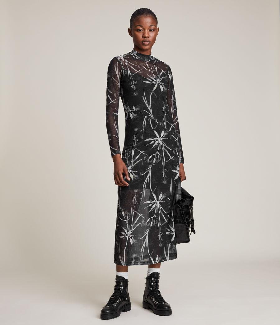 Womens Hanna Rutland Dress (black) - Image 5